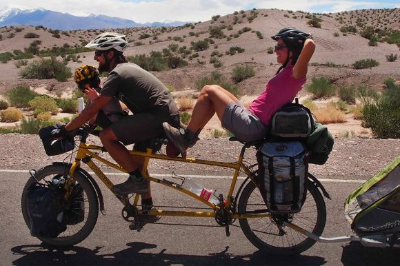 Tandem biking in the Andes
