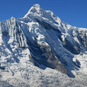 Chopicalqui East Face, the first ascent