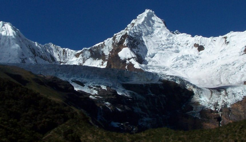 The southwest buttress of Taulliraju Cordillera Blanca, Peru