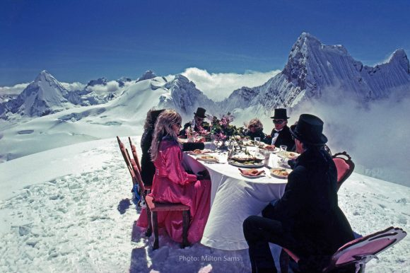 The world's highest dinner