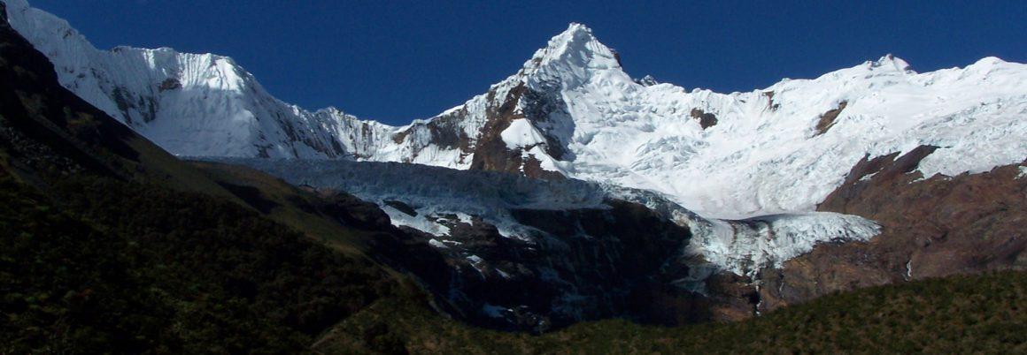 The southwest buttress of Taulliraju Cordillera Blanca, Peru